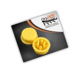Botón Redondo Amarillo 6x6x7.3MM Para Push Button Cabeza Cuadrada