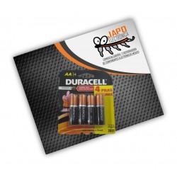 Pila Duracel AA Alcalina Zing-Carbon (Paquete De 4 Pzs)