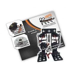 Kit Robot Bípedo (Se Vende Armado E Incluye 15 Brackets De Aluminio, 6 Servomotores Mg995 Con Sus Discos De Aluminio)