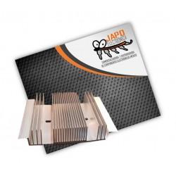 Disipador De Calor Grande 100% Aluminio 23 Aletas 120X100X25 MM