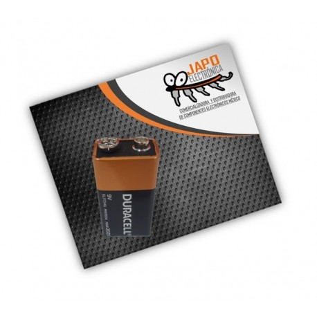 Pila Duracell Cuadrada 9V Alcalina Zing-Carbon A Granel
