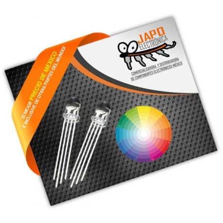 Leds RGB de Lente Transparente Redondo 5mm
