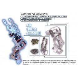 ESTRUCTURA DE ALUMINIO PARA BRAZO ROBÓTICO 5GDL REQUIERES 5 SERVOMOTORES MGG995 INCLUYE GRIPPER