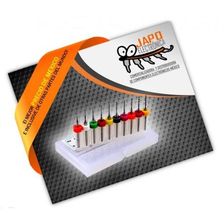 Kit 10 Brocas 0.3-1.2 Pcb Mototool Router Cnc