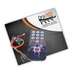 Kit Control Remoto Infrarojo Hx1838 + Receptor Y Cables Dupont 38khz 10mtrs