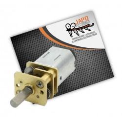 MOTORREDUCTOR POLULU CON ENGRANES DE METAL 100RPM 1.5KG/CM
