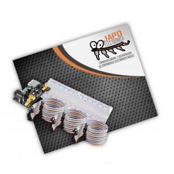 KIT PROTOBOARD + FUENTE DE ALIMENTACIÓN + 60 CABLES DUPONT MM,  MH Y HH