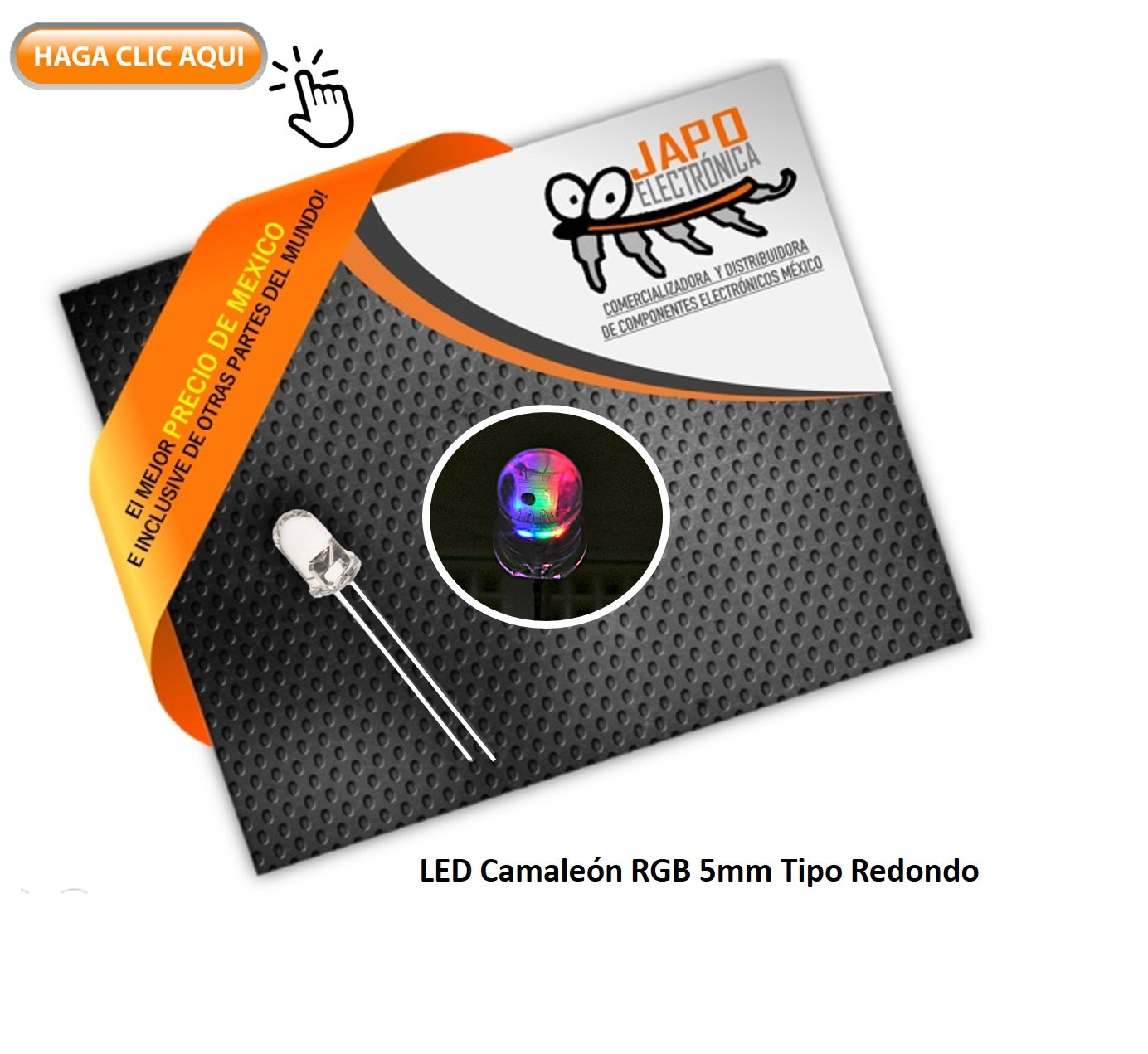 Led Camaleón RGB 5mm Tipo Redondo