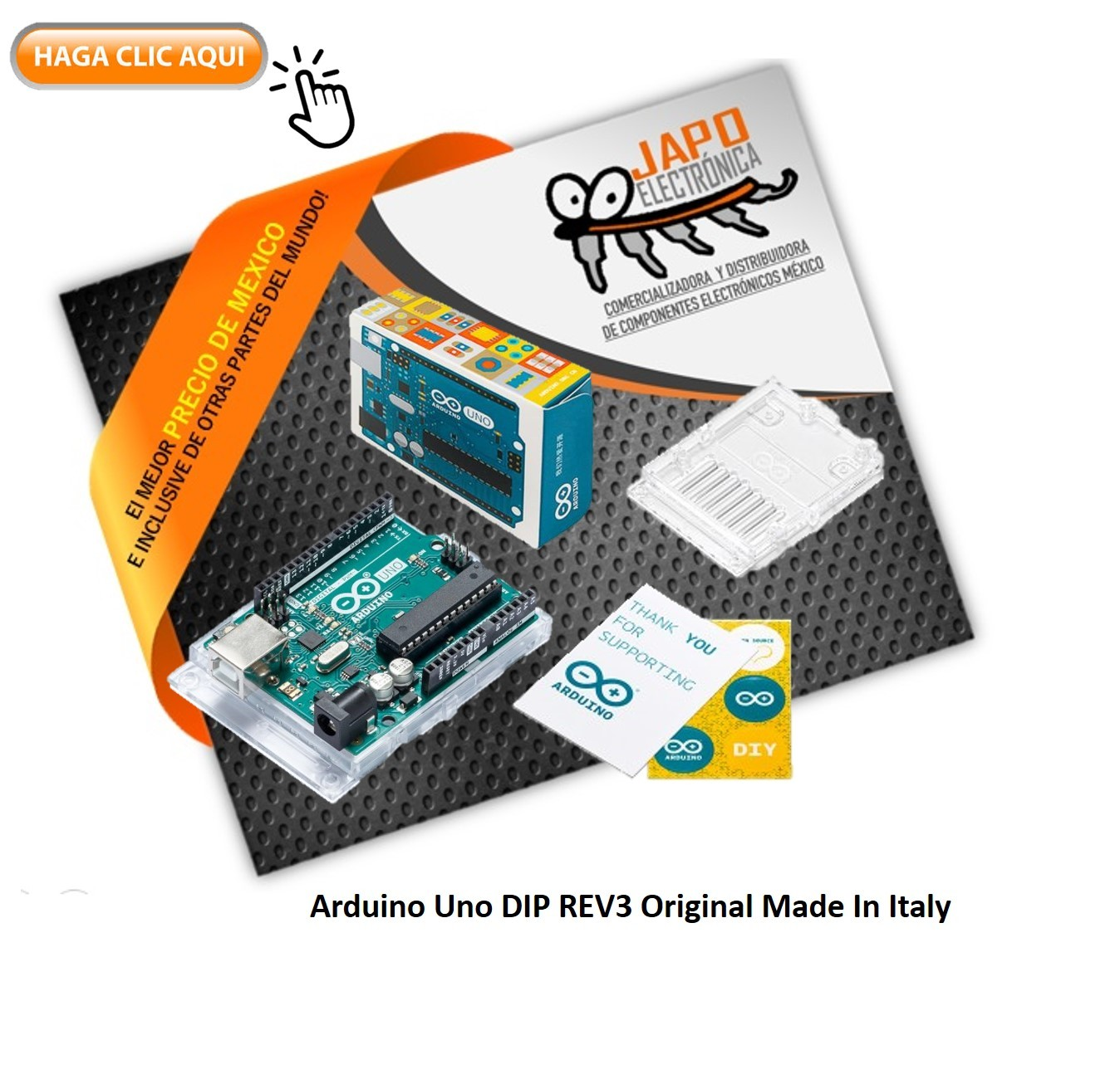 Arduino Uno DIP REV3 Original Made In Italy
